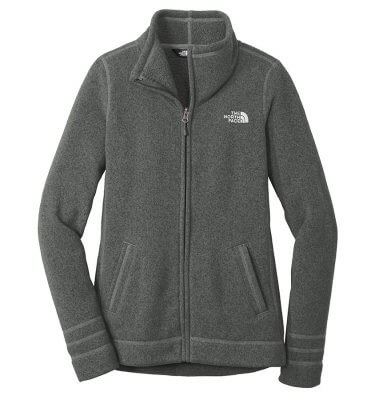 Ladies The North Face Sweater Fleece Jacket - Black Heather