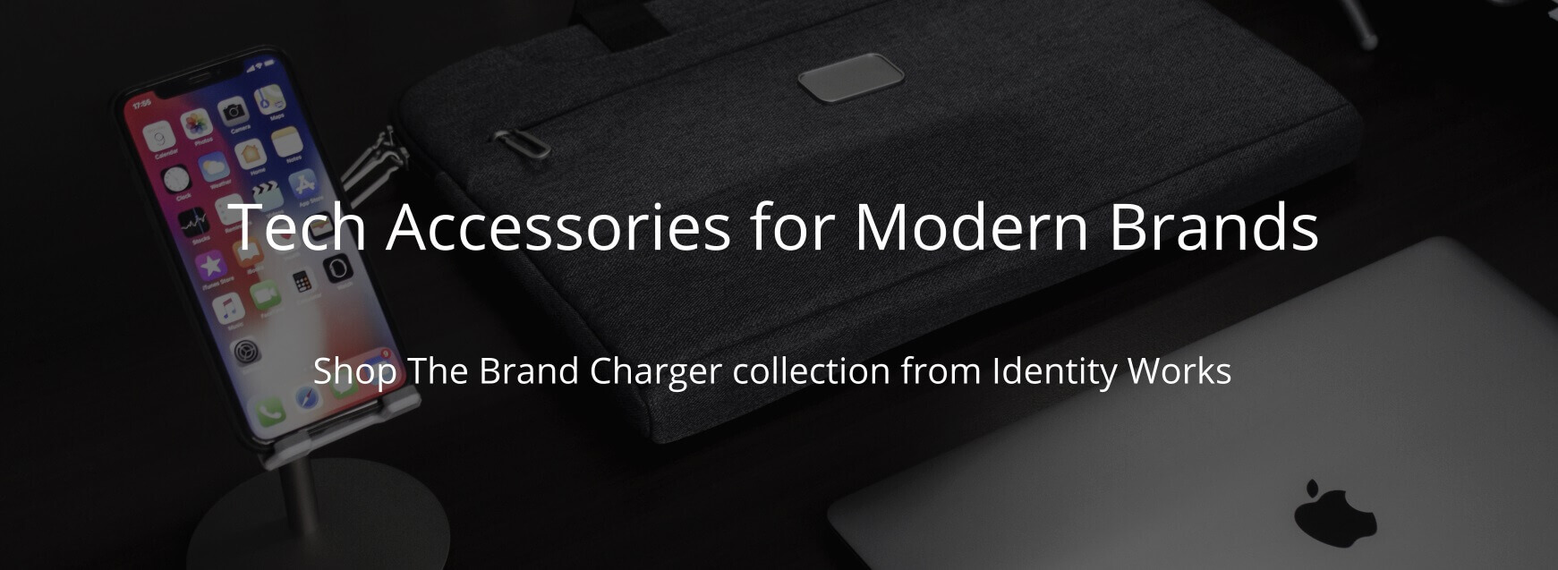 Tech Accessories for Modern Brands - The Brand Charger collection from Identity Works