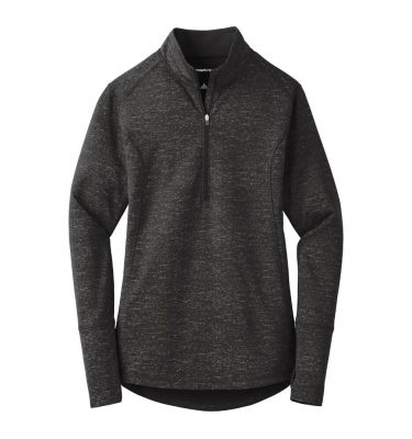 Ladies-Sport Tek Reflective Heather Quarter-Zip - Black