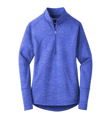 Ladies-Sport Tek Reflective Heather Quarter-Zip - True Royal