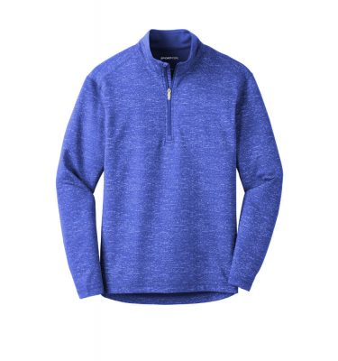 Mens-Sport Tek Reflective Heather Quarter-Zip - True Royal