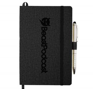 Black Soft JournalBook with pen