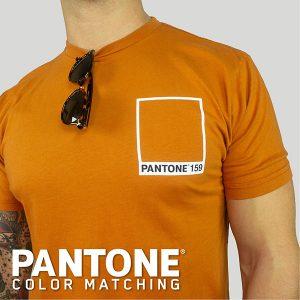 Orange pantone color matched tee