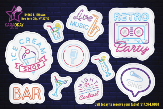 Image of custom branded corporate promotional stickers
