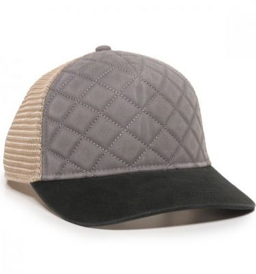 Quilted Cap - Grey/Ivory/Black - Front Profile Right