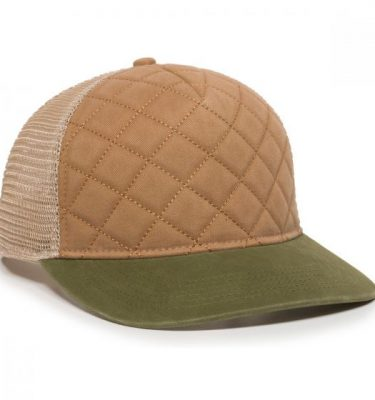Quilted Cap - Khaki/Ivory/Olive - Front Profile Right