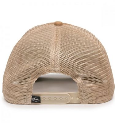 Quilted Cap - Khaki/Ivory/Olive - Back
