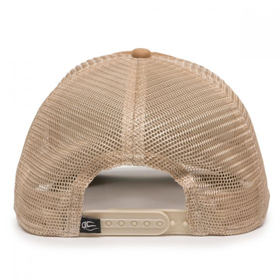 Quilted Cap - Khaki/Ivory/Olive - Back