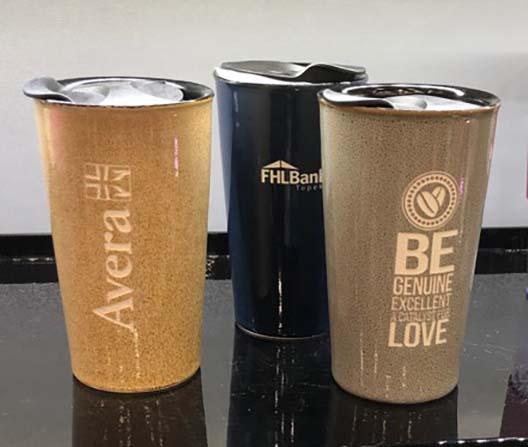 Seattles Finest Tumbler in three colors with custom etching.